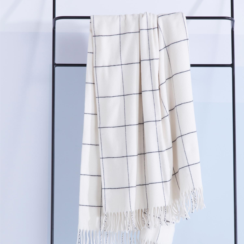 Damai Frame Plaid – Wool White