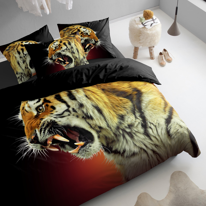 Damai El Tigre dekbedovertrek – katoen – gold