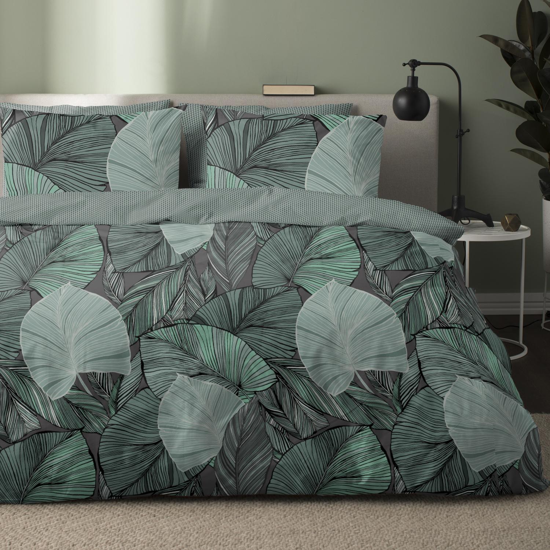 Damai Giungla dekbedovertrek – katoen satijn- green
