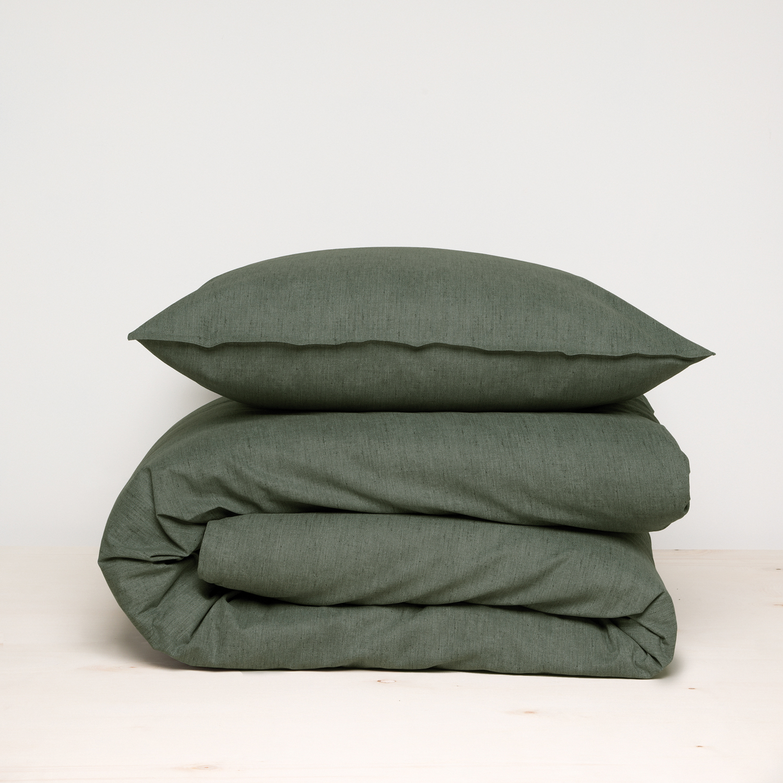 Damai Birk dekbedovertrek – ORGANIC katoen – green