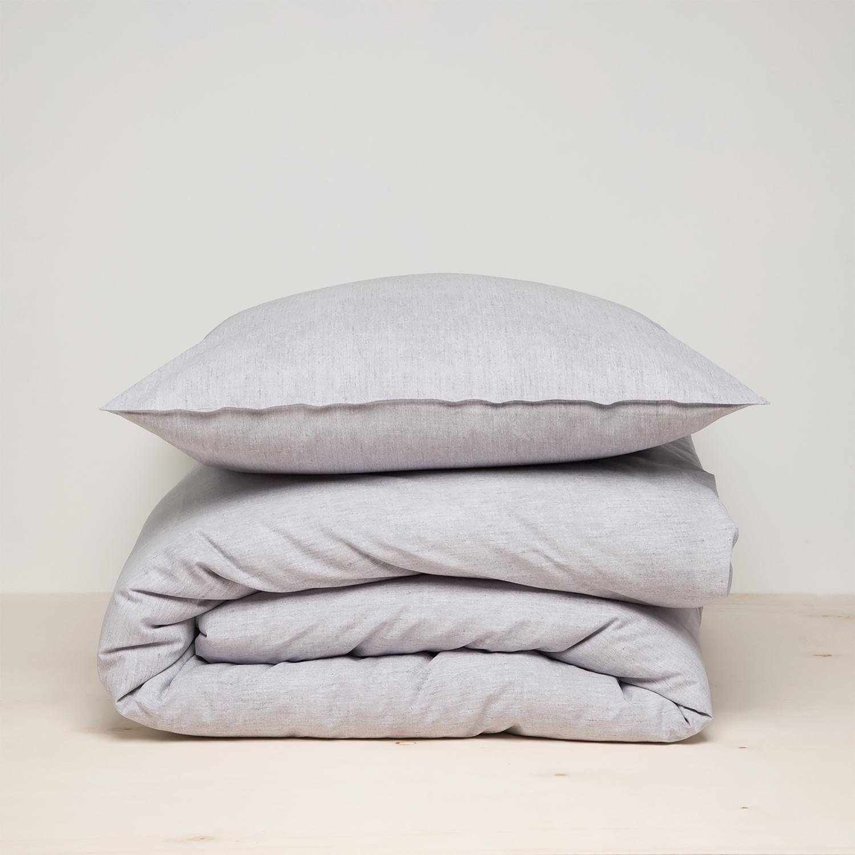 Damai Birk dekbedovertrek – ORGANIC katoen – grey