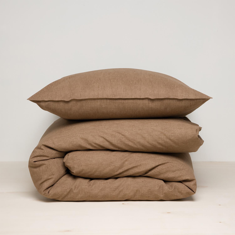 Damai Birk dekbedovertrek – ORGANIC katoen – walnut