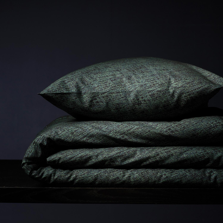 Damai Bloke dekbedovertrek – ORGANIC katoen – deep green