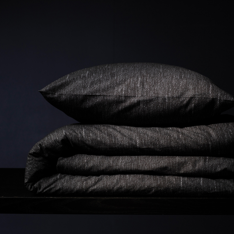 Damai Hombre dekbedovertrek – ORGANIC katoen – black