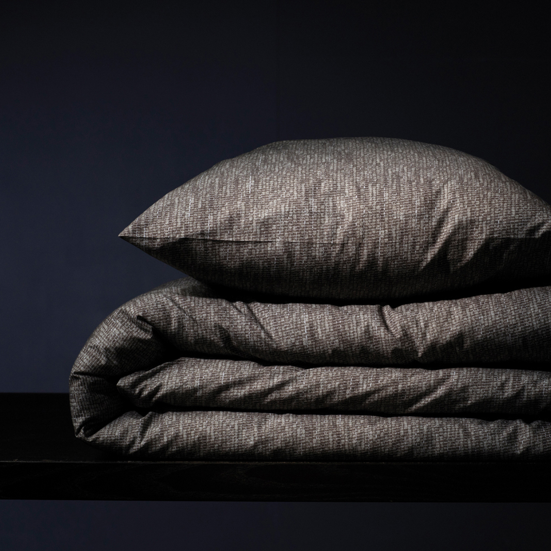Damai Hombre dekbedovertrek – ORGANIC katoen – stone grey